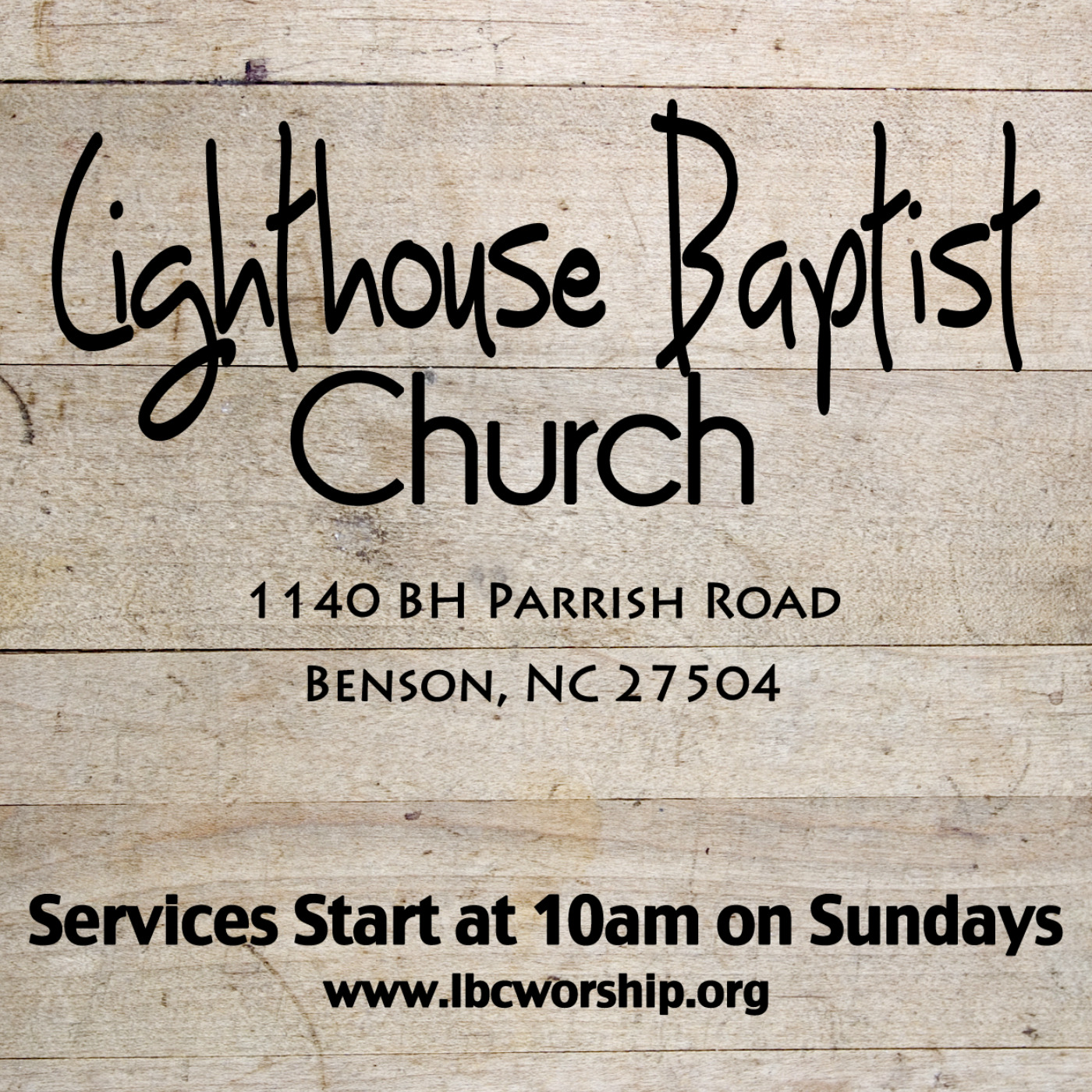 Lighthouse Baptist Church, Benson, NC: Weekly Sermons
