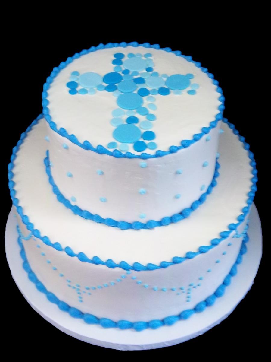 Religious Cross Birthday Cake Image
