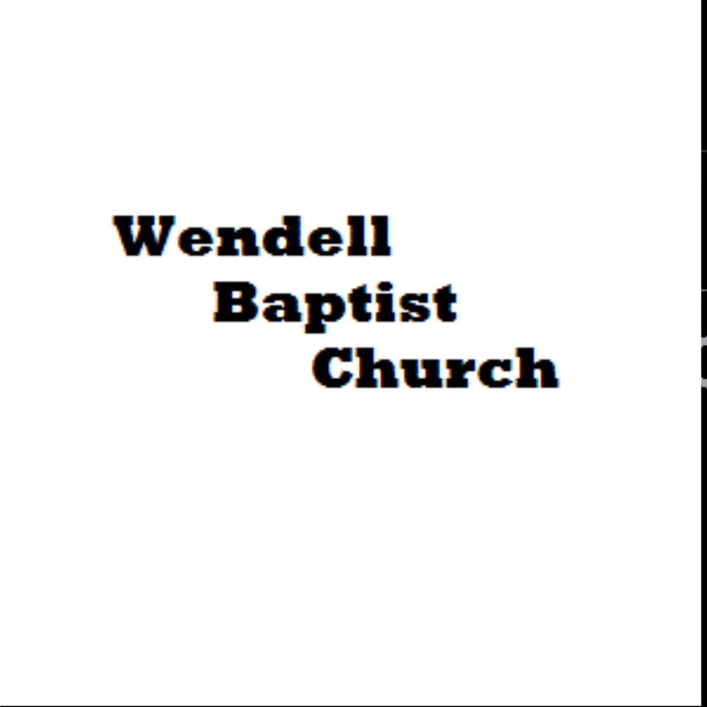 Wendell Baptist Church